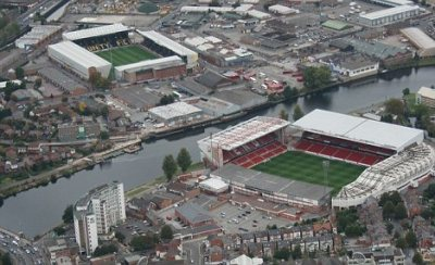 Nottingham Forest and Notts County across the River Trent